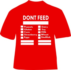 Don't Feed Allergy T-shirt